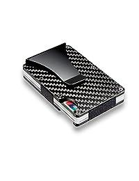 Carbon Fiber Men Mini Wallet Money Clip Screw Fixation Elastic Band Screwdriver