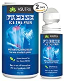 ASUTRA Pain Relief Gel with Arnica, 3 oz. Roll On, Fast Acting Cooling Anti Inflammatory Cream for Arthritis, Muscle & Joint Pain, Migraines (2 pack)