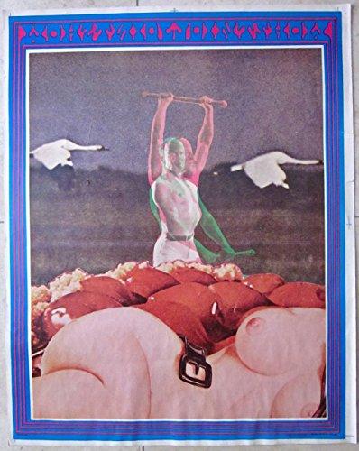 VINTAGE 1967 CONCERT POSTER - JOINT SHOW - CRAZY NUDE BODY PART ARTWORK