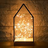 NCYP House Shape Gift Decor Terrarium Lantern Containers 3m String Light Set