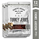 Hickory Smoke Turkey Jerky by Country Archer | Antibiotic Free | Gluten Free | 1.5 Ounce (Pack of 12)