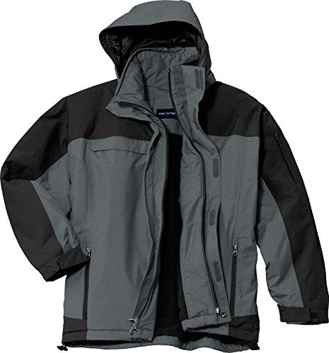 (Port Authority Mens Nootka Jacket (J792) -GRAPHITE/B -4XL)