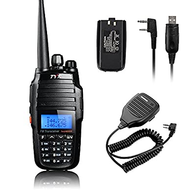 TYT TH-UV8000D Ultra-high Output Power 10W Amateur Handheld Transceiver, Dual Band Dual Display Dual Standby Two Way Radio+BF-S112 Mic+Program Cable+Battery-Lightwish