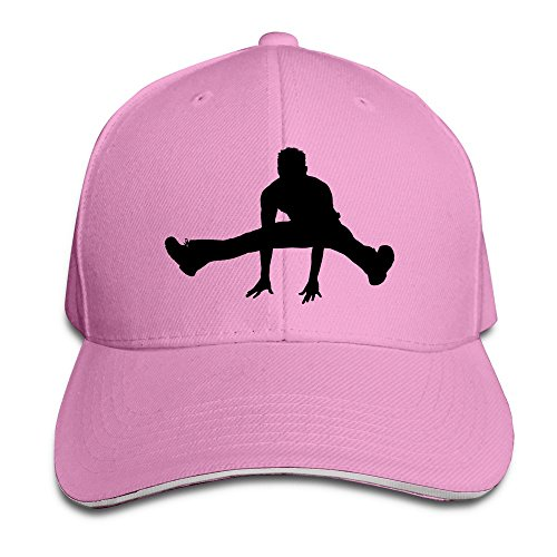 dancing-on-my-own-unisex-100-cotton-adjustable-baseball-caps-pink-one-size