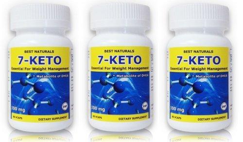 Meilleures Naturals, 7-Keto DHEA, Fat Loss Formula, 100 mg, 60 Vcaps (pack de 3)