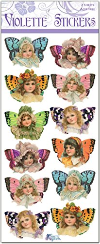 Violette Stickers Butterfly Victorian Girl