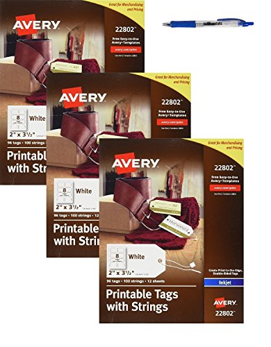 Avery Printable Tags with Strings for Inkjet Printers, 2