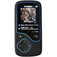 AGPTEK C05 8GB MP3 Player, Updated Bluetooth Lossless Music Player Support Up to 64 GB, Black