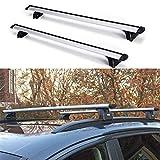 "Younar 47.6"" Roof Rack Cross Bar Car Top Luggage Carrier Cargo Side Rails Adjustable Aluminum Universal for Audi Q7 Q3 Q5 BMW X1 X5"