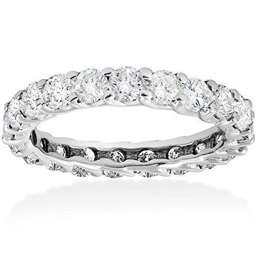 (3ct Trellis Diamond Eternity Ring 14K White Gold )