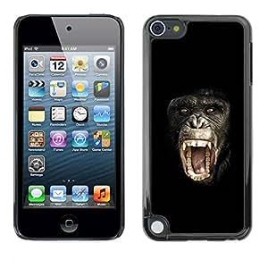TopCaseStore / la caja del caucho duro de la cubierta de protección de la piel - Chimpanzee Planet Of The - Apple iPod Touch 5