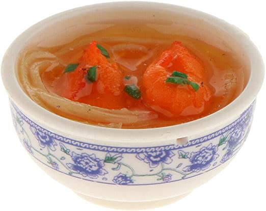 1:12 Scale Tomato Soup In A Ceramic Bowl Tumdee Dolls House Miniature Food