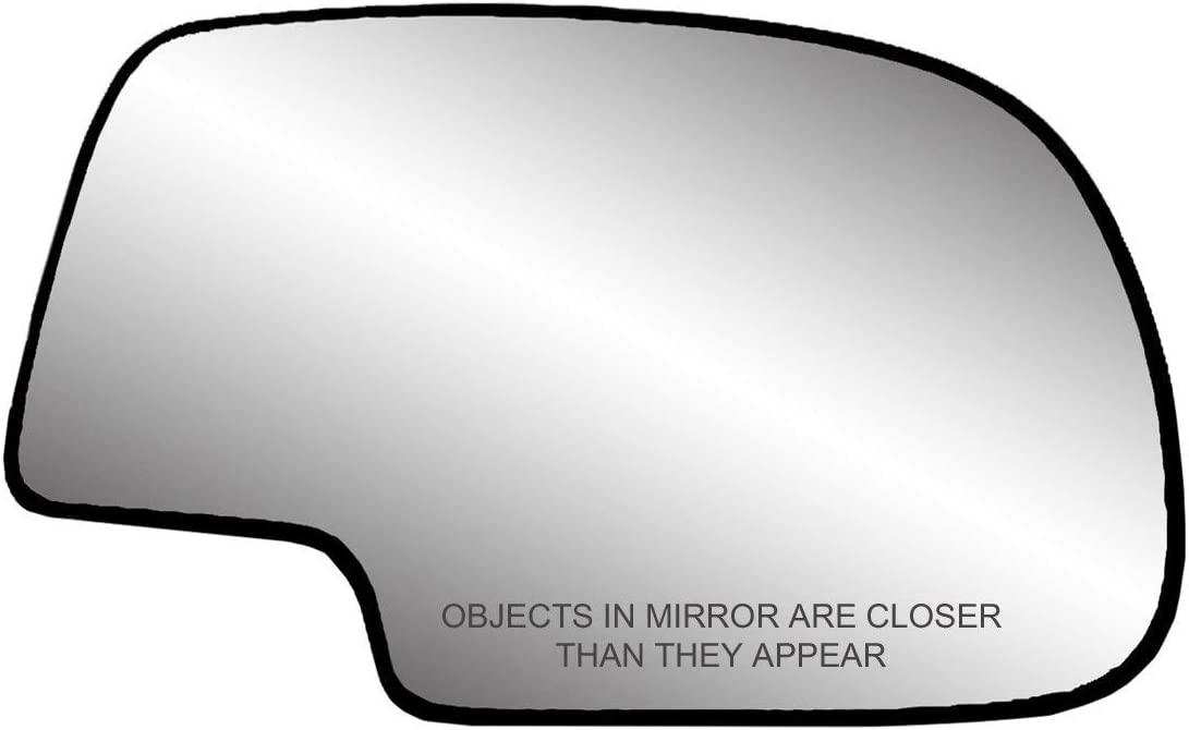 Renewed Fit System 30194 Passenger Side Heated Replacement Mirror Glass with Backing Plate