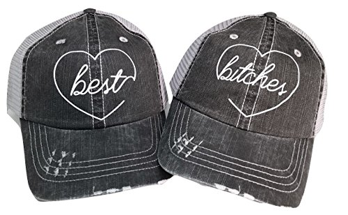 Loaded Lids Women's Best Bitches Bling Baseball Cap Bundle ()