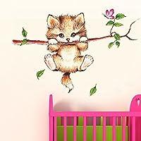 Decals Design 'Little Catty on Branch' Wall Sticker