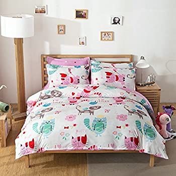 4pcs Children Bedding Sets One Duvet Cover Without Comforter One Flat Sheet  Two Pillowcases Twin Full. Amazon com  Cliab Paisley Bedding Pink Twin Or Queen For Teen
