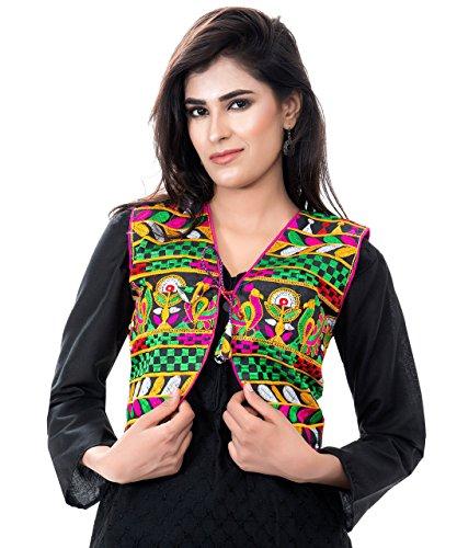 Free Jacket Patterns (Banjara Women's India Kutchi Short Choli Jacket [Duck] Free Size Black)