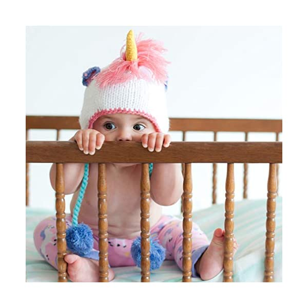 Huggalugs Baby, Toddler and Adult Unicorn Beanie Hat, Legwarmers, Pants 5