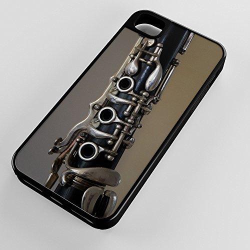 iPhone Case Fits Apple iPhone 5c Hybrid Tough Case Clarinet Woodwind Instrument Bank Class Black Plastic Black Rubber