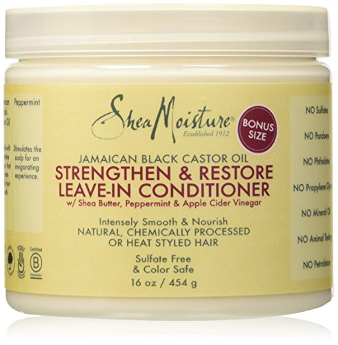 Shea Moisture Strengthen & Restore Leave-In Conditioner 16 oz (Shea Butter Hair Oil)