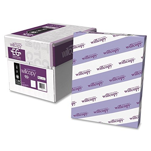 White 1/3rd Micro Perforated Laser Copy Paper, 2500 Sheets, 20lb, 92 Bright by Willcopy