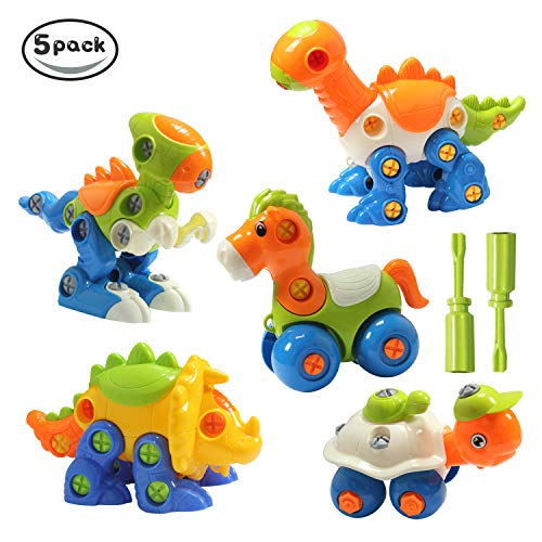 New launch HOMOFY Take Aside Toys Dinosaur Toys(Pack of 5) Assembling Puzzle Instructive & Attention-grabbing Building Play Set Detachable Toys The Greatest Reward for Youngsters 2 Yr+ (Dinosaur Toys(Pack of 5))  Opinions