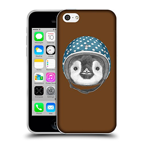 GoGoMobile Coque de Protection TPU Silicone Case pour // Q05320633 Casque pingouin Sépia // Apple iPhone 5C