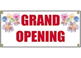 Grand Opening Banner Retail Store Shop Business Sign 36'' By 15''