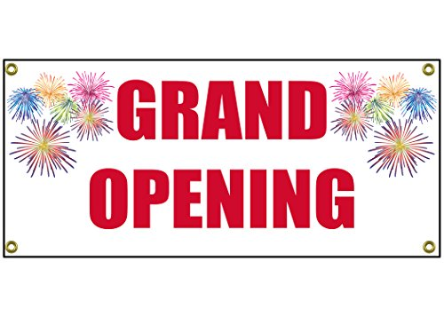 (Grand Opening Banner Retail Store Shop Business Sign 36