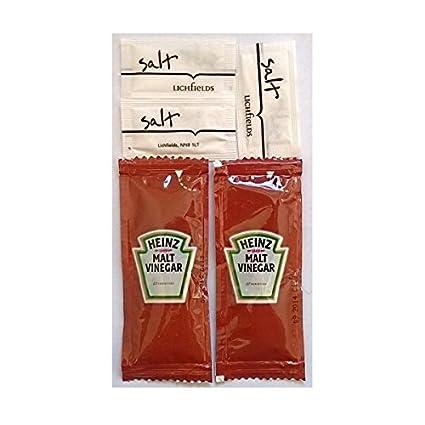 50 Heinz vinagre de malta y 100 Lichfield Sal - Sobres individuales