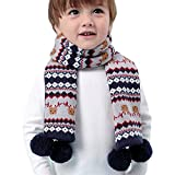 Luzlen Toddlers Kids Boys Winter Warm Knit Scarves Fashion Cute Scarf Neck Collar
