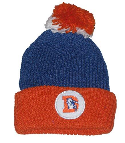 拳満州部Denver Broncos NFL Mitchell & Ness ( ts215 ) Throwbackセーター2トーンボールトップCuffed Knit Beanie Hat