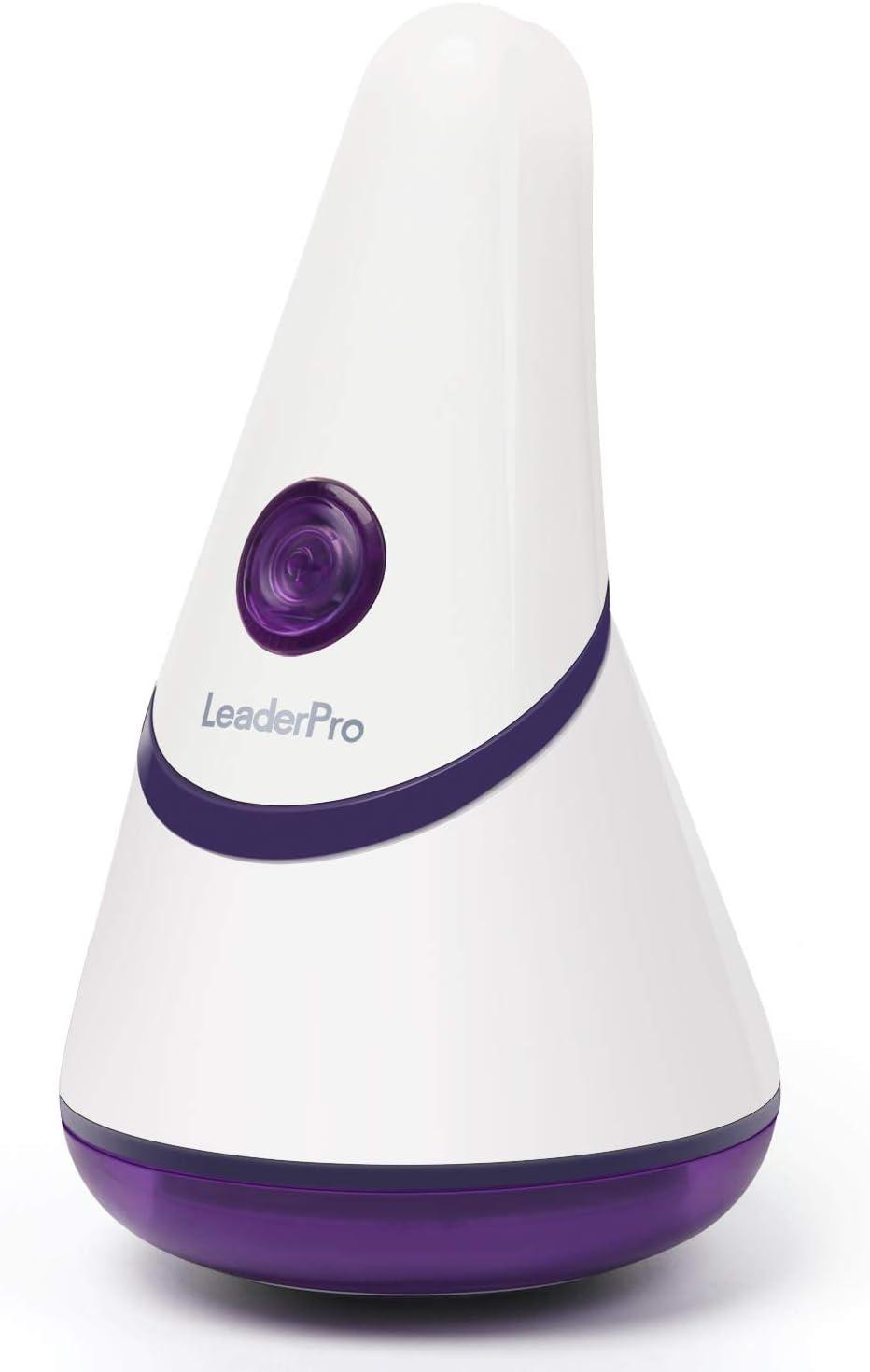 LeaderPro Quitapelusas Eléctrico Ideal para Quitar Pelusa y Bolitas, con batería Recargable por USB, Mango Giratorio ...