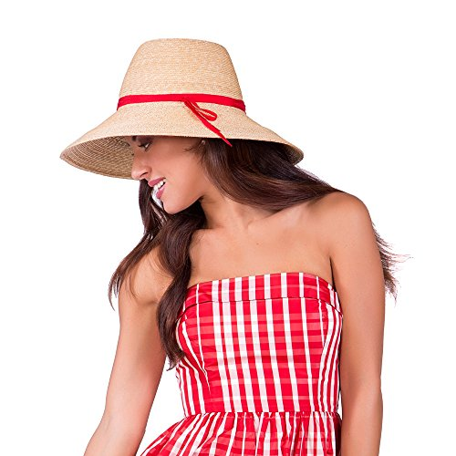Gottex Women's Cote d'Azur Fine Milan Straw Sun Hat Rated, UPF 50+ for Max Sun Protection