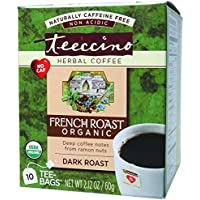 Teeccino French Roast Flavoured Herbal Coffee,  10 Count
