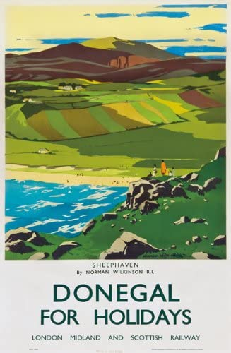 TR72 Vintage Ireland Donegal Railway Poster A2 A3