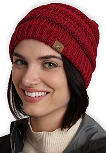 Warm Knit - Tough Headwear Cable Knit Beanie - Thick, Soft & Warm Chunky Beanie Hats for Women & Men - Serious Beanies for Serious Style