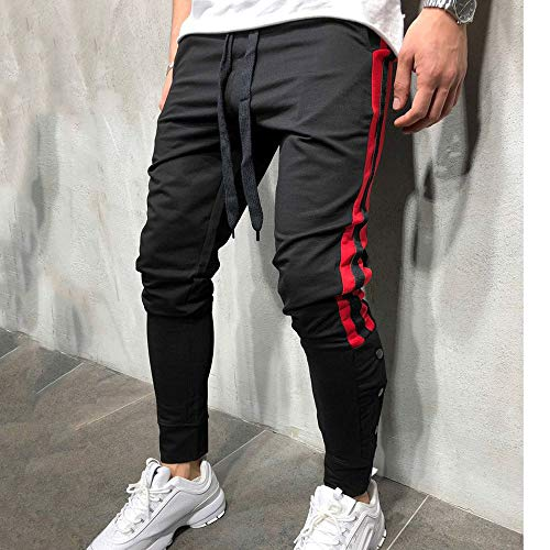 colore Feet Drying Elastic Striped Amuster Misti sportivi Small Slim Black Uomo di Trendy Pantaloni UgPInqwx