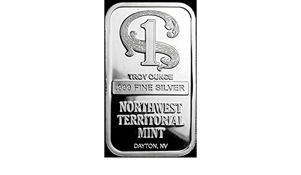 1 troy oz SEALED Has Toning .999 Fine Silver Bar NORTHWEST TERRITORIAL
