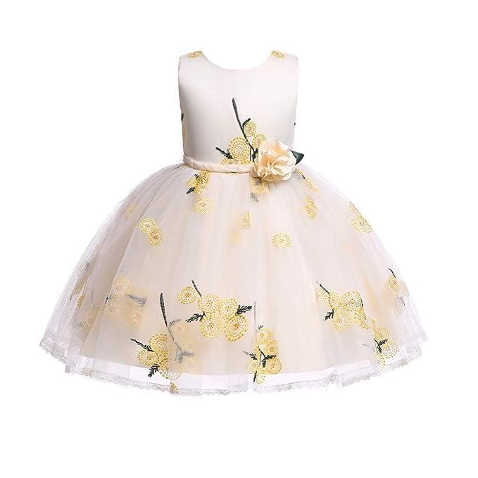Luckycat Vestido de Fiesta de Princesa con Encaje de Flor de ...