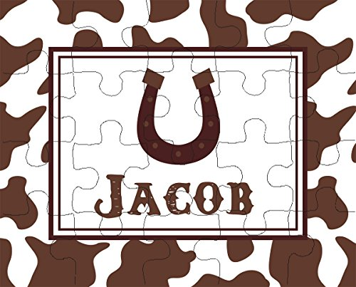 Ooh La La Printables Horseshoe 20-Piece Personalized Puzzle ()