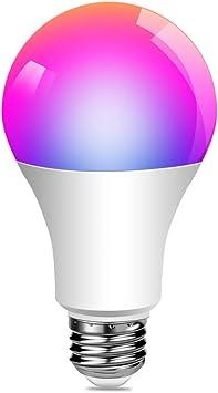 E27 WiFi Smart Light Bulb 4.5W RGB LED Lamp Amazon Alexa//Google Home App Control