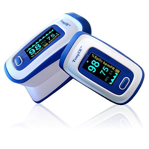 Pulse Oximeter - Finger - TempIR Handheld Portable - Digital Blood Oxygen...