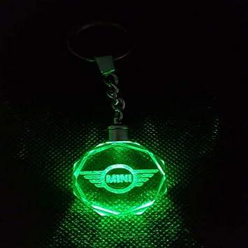 Fitracker - Llavero con luz LED de cristal para coche con caja de regalo, Mini