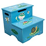 Fantasy Fields - Froggy Thematic Kids Wooden Step Stool with Storage   Imagination Inspiring Hand Crafted & Hand Painted Details   Non-Toxic, Lead Free Water-based Paint