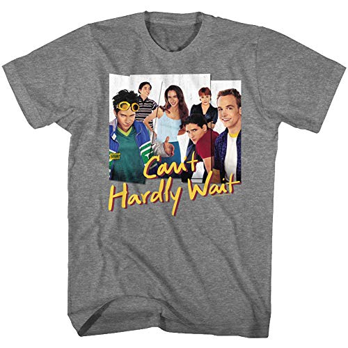 American Classics Can't Hardly Wait 1998 Teen Comedy Film Movie Group Photos Adult T-Shirt Tee Gray