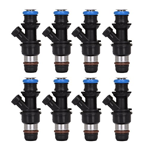 Catinbow 17113553 8PCS Engine Fuel Injector Set for Chevrolet Silverado Express GMC Savana Sierra 1500 2500 3500 Cadillac 4.8L 5.3L (Buick Fuel Injector Set)