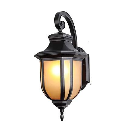 Atr American Simple Outdoor Wall Lantern Lámpara De Pared De