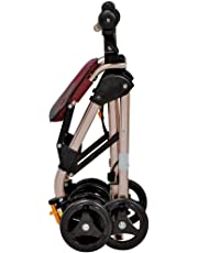 4 Wheels Portable Walking Aids Foldable, Drive Rollator Walker with Seat, Medical Rolling Walker Double Brake System, Used for Seniors Walking