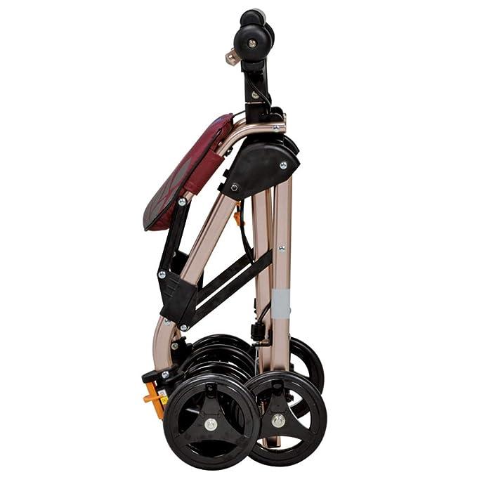 Amazon.com: Andador portátil plegable con 4 ruedas, con ...